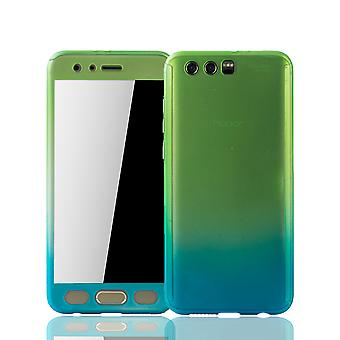 Huawei honor 9 mobile case protection-case full cover tank protection glass green / blue