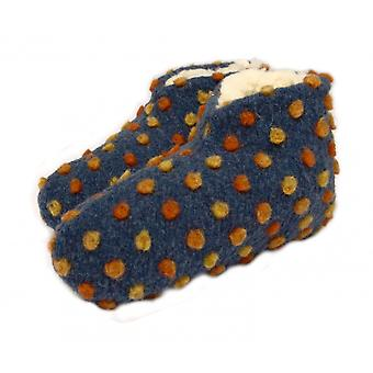 Bed shoes wool dots blue 38/39