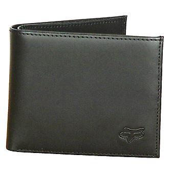 Fox głowy Bifold Premium skórzany portfel ~ czarny