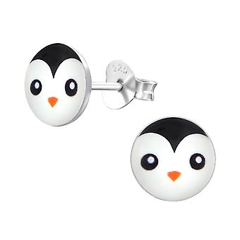 Penguin - 925 Sterling Silver Colourful Ear Studs - W19723x