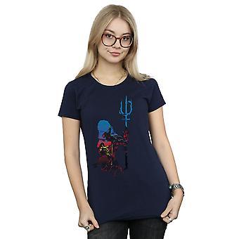 DC Comics Women's Aquaman Battle Silhouette T-Shirt