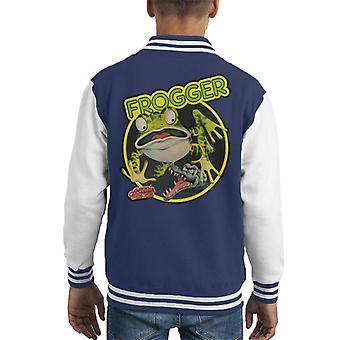 Frogger Arcade Game Series Artwork Kid's Varsity Jacket