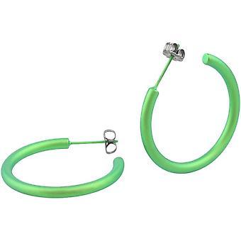 Ti2 Titanium 25mm Hoop Earrings - Fresh Green
