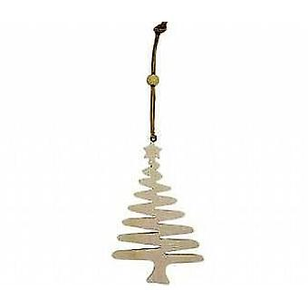 12 Hanging Wooden Zig Zag Style Christmas Trees to Decorate - 11cm