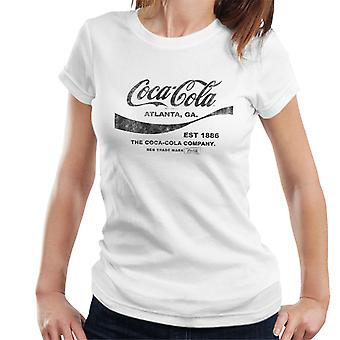 Coca Cola Drink 1886 Black Text Women's T-Shirt