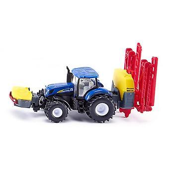 Siku New Holland Tractor met Kverneland