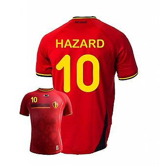 2014-15 Belgien World Cup Home Shirt (Hazard 10) - Kinder