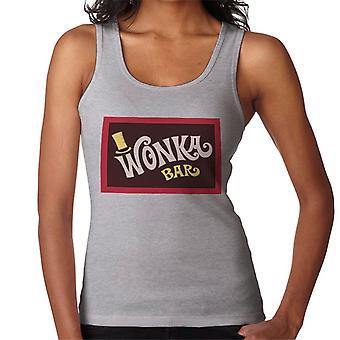 Wonka Bar Wrapper Charlie og sjokoladefabrikken kvinnenes Vest