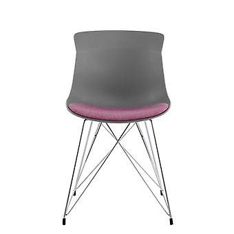 Dining Room Chair Chairs Living Room Chair Retro Bowl Chair Grey Purple 2Er Set