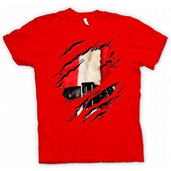Womens T-shirt - Santa Claus - Father Christmas Ripped Design
