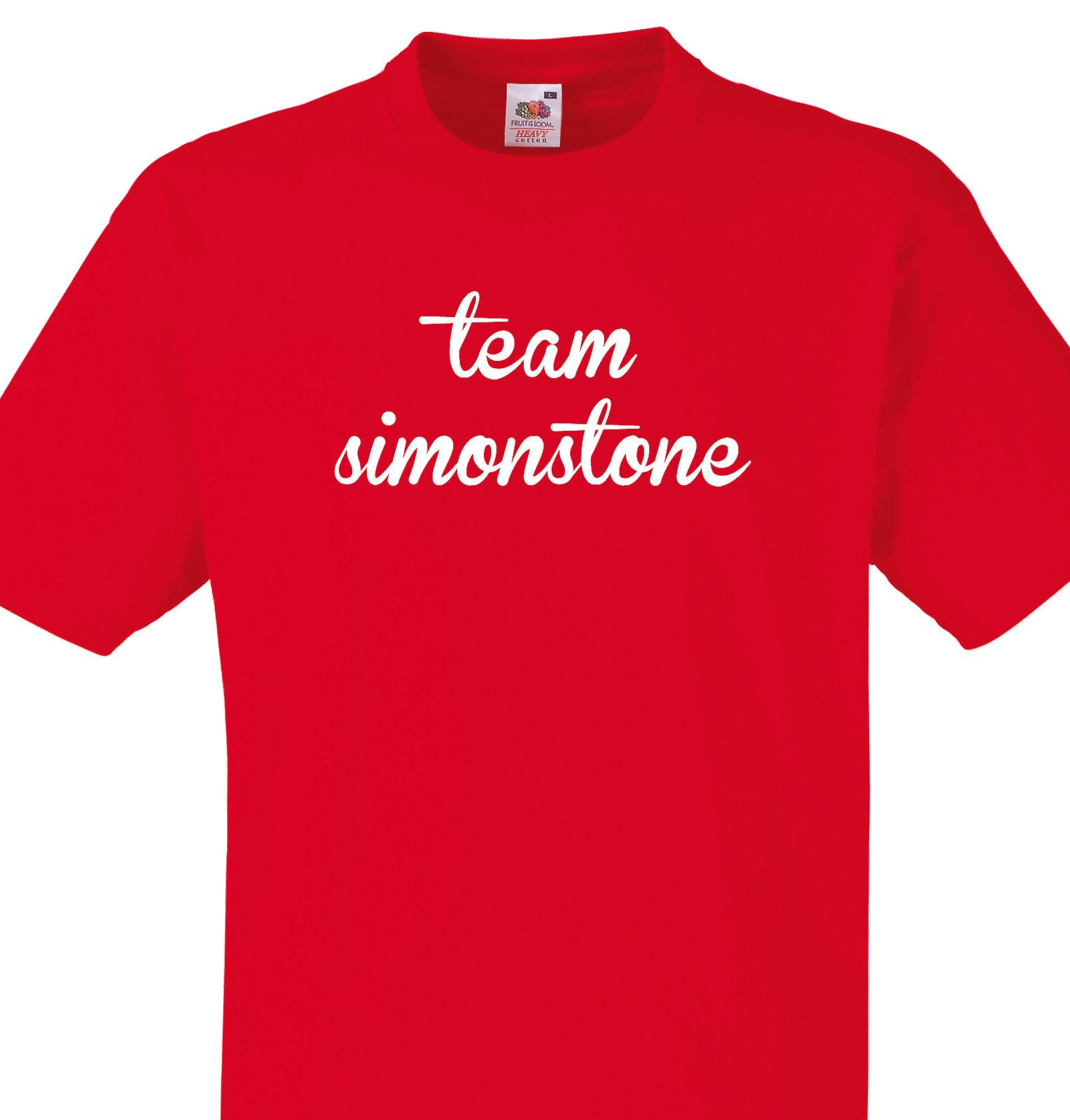 Team Simonstone Red T shirt