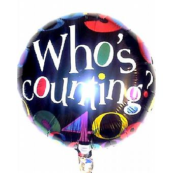 Foil Balloon WHO'S COUNTING BIRTHDAY