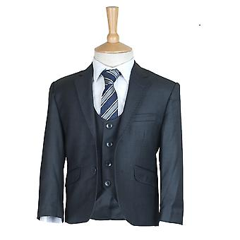 3 Piece Charcoal Grey Boys Suit