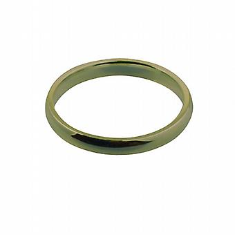 9ct Gold 3mm plain Court shaped Wedding Ring Size Q