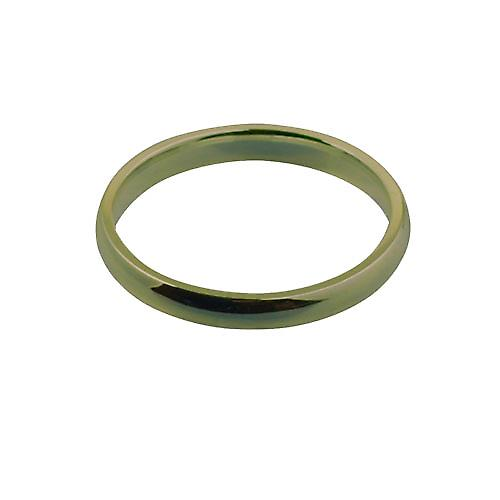 9ct Gold 3mm plain Court shaped Wedding Ring