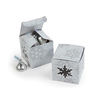 12 dø Cut Snowflake Mini gave eller behandle bokser til jul