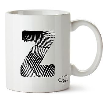 Hippowarehouse Z Beach alfabetet (Pocket) 10oz mugg Cup