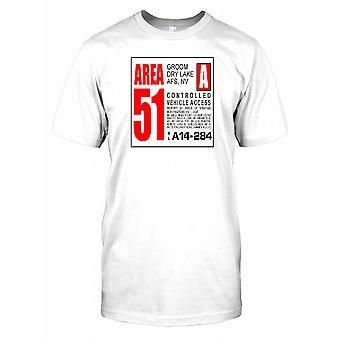 Area 51 kontrollerade fordon tillgång Mens T Shirt