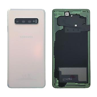 Samsung GH82-18378F battery cover cover for Galaxy S10 G973F + adhesive pad white Prism white new