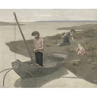 Dårlig fiskeren, Pierre Puvis de Chavannes, 50x40cm