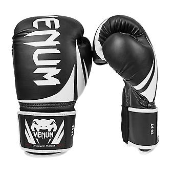 Venum Challenger 2.0 Hook & Loop PU Leather Boxing Gloves - Black/White