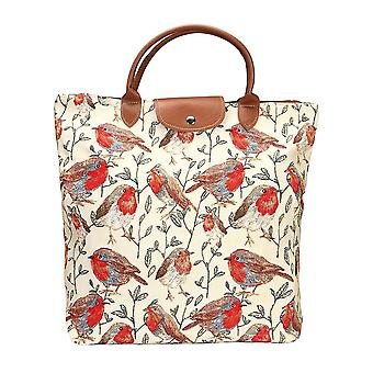 Robin foldaway shopping bag by signare tapestry / fdaw-rob