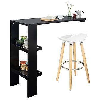 SoBuy parete cucina pranzo tavolo Bar colazione con lato Rack nero FWT55-SCH