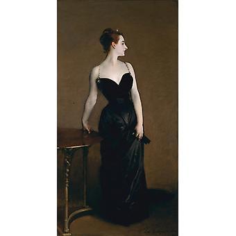 Madame X,John Singer Sargent,80x40cm