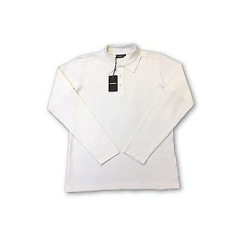 Strellson long sleeved polo in white