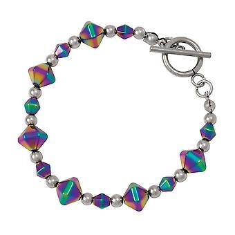 Eternal Collection Vivacity Rainbow Hematite Beaded Bracelet