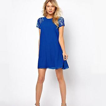 Nicki  Slim Dress - Blue-Blue-XL