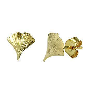 توصيل عيار 9 ملم نبات الجنكة لامعة الذهب 9Kt