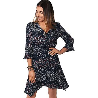 KRISP Frill Sleeve Button Up Floral Dress