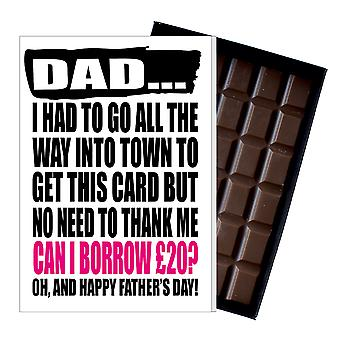 Funny Father's Day Gift Silly Chocolate Present Rude Card For Dad DADIYF140
