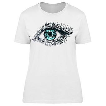 Realistic Human Eye Girl Tee Women's -Image by Shutterstock