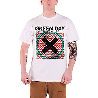 Green Day T Shirt Xllusion Album Band Logo Official Mens New White