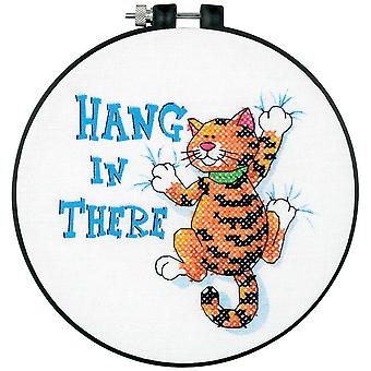 Learn A Craft Hang In There Stamped Cross Stitch Kit 6