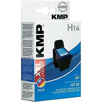 KMP Ink replaced HP 28 Compatible Cyan, Magenta,