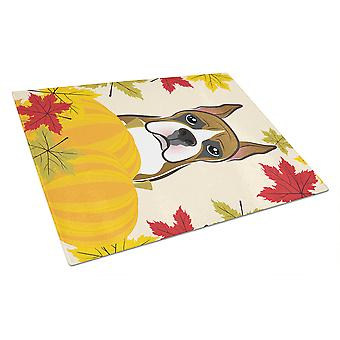 Boxer Thanksgiving Glass Cutting Board Large BB2029LCB