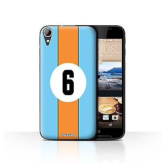 STUFF4 Tilfelle/Cover for HTC Desire 830/Gulf/blå/oransje/Racing bil striper