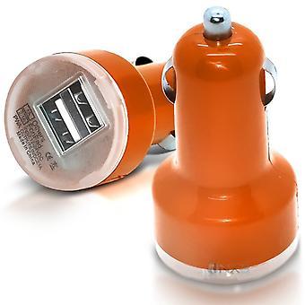 ONX3 LG K3 Orange Twin Port USB-Mini-Bullet In Kfz-Ladegerät-Adapter