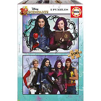 Educa Puzzle The Descendants 2x100 Pieces (Speelgoed , Bordspellen , Puzzels)