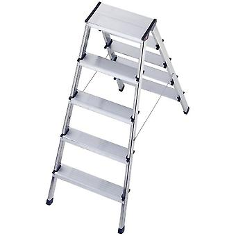 Hailo Aluminum ladder L90 (2X5 Steps) (DIY , Tools , Stairs and stools)