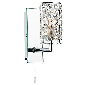 Staffa a parete singola Rhodes cromo lucido / trasparente Ip44