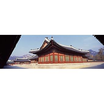 Courtyard of a palace Kyongbok Palace Seoul South Korea Korea Poster Print