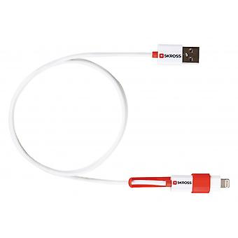 Skross 2-in-1 USB sync and charging cable Micro B Male + Lightning Adapter-A-male 1.00 m white