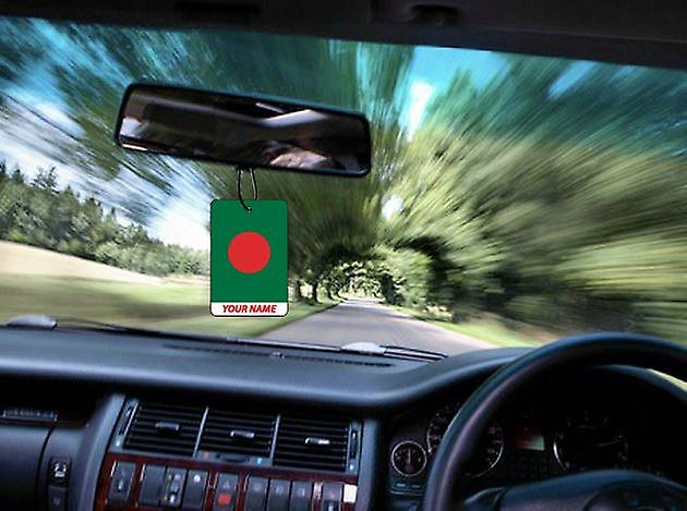 Bangladesh Flag Personalised Car Air Freshener