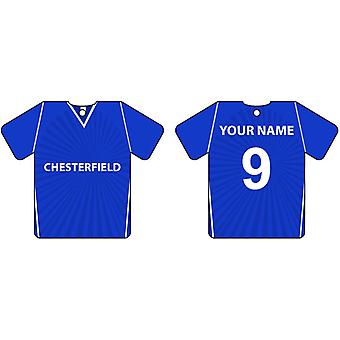 Personalised Chesterfield Football Shirt Car Air Freshener