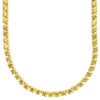 Iced out bling ZIRCONIA stone 1 ROW chain - gold