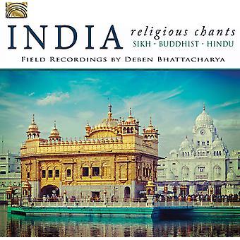 Feltet optagelser af Deben Bhattacharya - Indien-religiøse Chants [CD] USA import